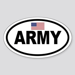 ARMY Flag Oval Sticker