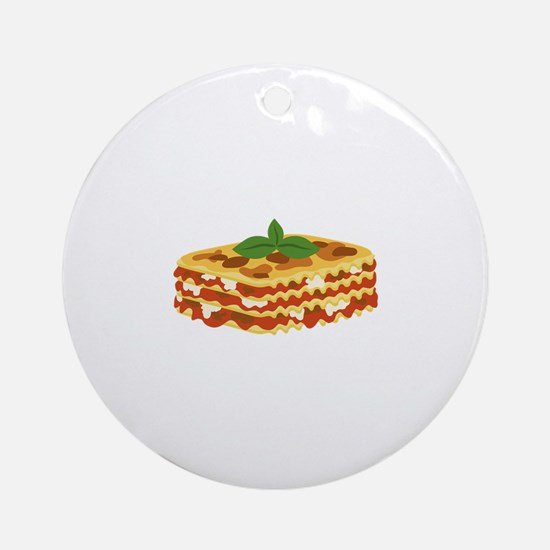 Lasagna Round Ornament