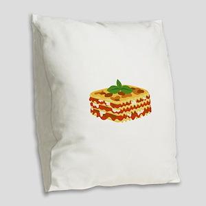 Lasagna Burlap Throw Pillow