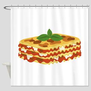 Lasagna Shower Curtain