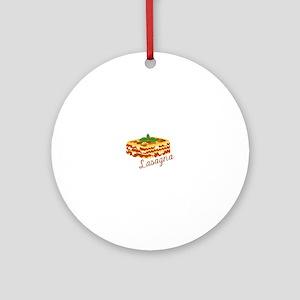 Lasagna Pasta Round Ornament