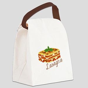 Lasagna Pasta Canvas Lunch Bag