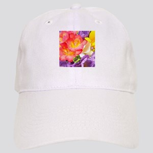 Colorful Flowers Baseball Cap