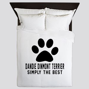 Dandie Dinmont Terrier Simply The Best Queen Duvet