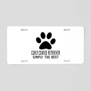 Curly-Coated Retriever Simp Aluminum License Plate