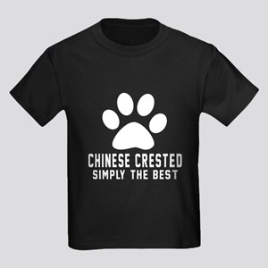 Chinese Crested Simply The Best Kids Dark T-Shirt