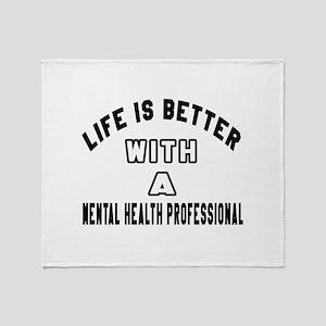 Mental Health Professional Designs Throw Blanket