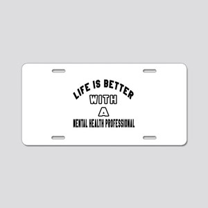 Mental Health Professional Aluminum License Plate