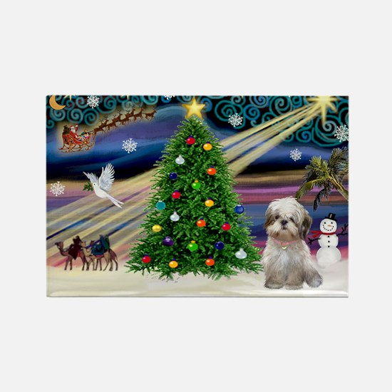 XmasMagic/Shih Tzu (15) Rectangle Magnet