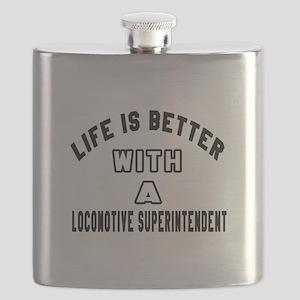 Locomotive Superintendent Designs Flask