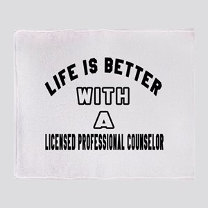Licensed Professional Counselor Desi Throw Blanket