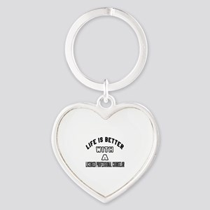 Licensed Professional Counselor Des Heart Keychain
