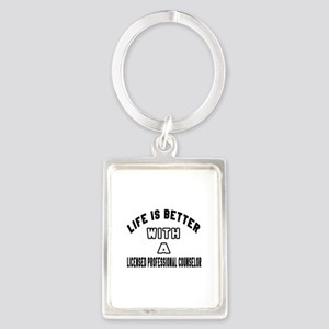 Licensed Professional Counselor Portrait Keychain