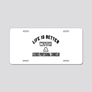 Licensed Professional Couns Aluminum License Plate