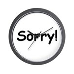 Sorry Wall Clock