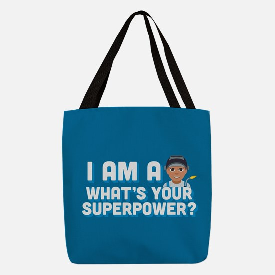 Emoji Welder Superpower Polyester Tote Bag