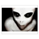 Alien Grey Small Poster