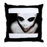 Alien Grey Throw Pillow
