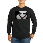 Alien Grey Long Sleeve Dark T-Shirt