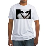 Alien Grey Fitted T-Shirt