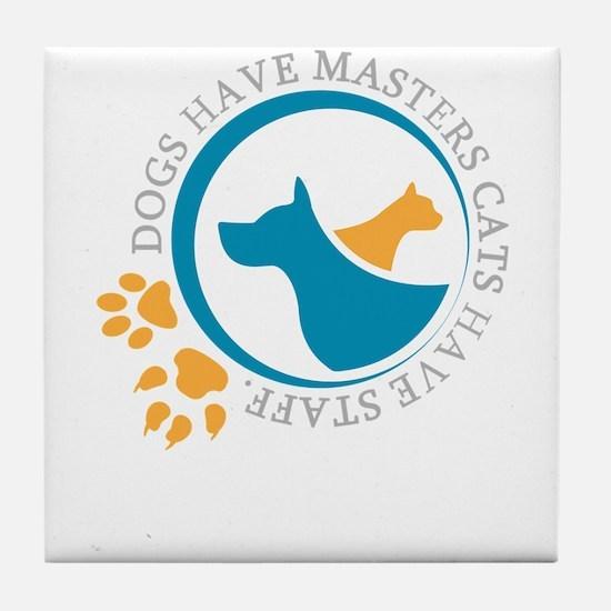 Cute Adopt shelter pet Tile Coaster