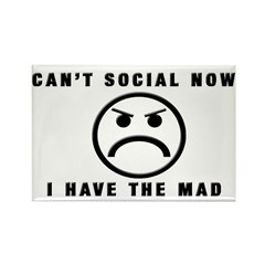 Can't Social Now, I Have The Rectangle Magnet (10