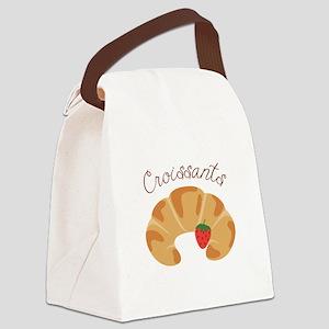 Croissants Canvas Lunch Bag