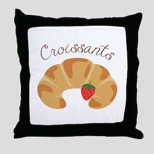 Croissants Throw Pillow