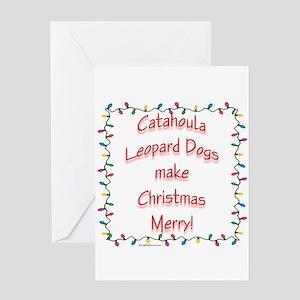 Merry Catahoula Greeting Card