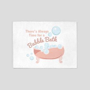 A Bubble Bath 5'x7'Area Rug