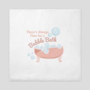 A Bubble Bath Queen Duvet