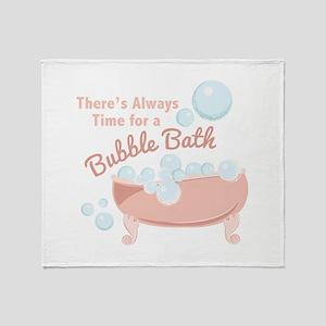 A Bubble Bath Throw Blanket