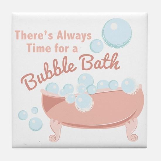A Bubble Bath Tile Coaster
