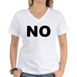 No. Well, Maybe. Women's V-Neck T-Shirt