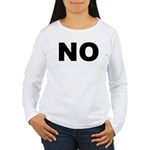 No. Well, Maybe. Women's Long Sleeve T-Shirt