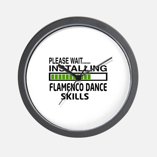 Please wait, Installing Flamenco dance Wall Clock