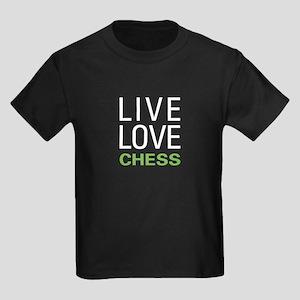 Live Love Chess Kids Dark T-Shirt