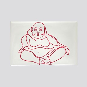 Buddha red Magnets