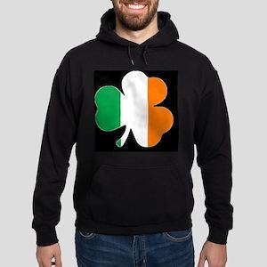 Ireland Flag Shamrock Hoodie (dark)