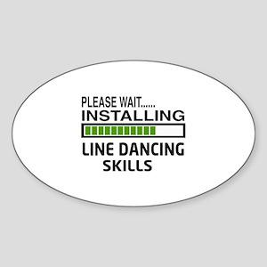 Please wait, Installing Line dance Sticker (Oval)