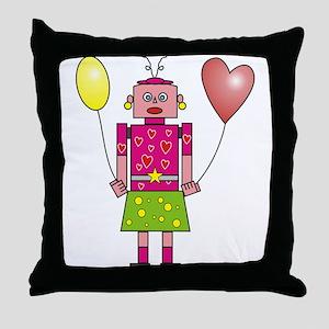 Roboter Lady Throw Pillow