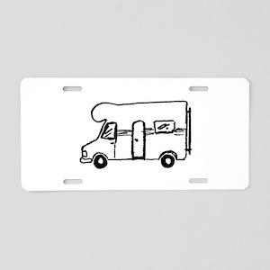 Wohnmobil Aluminum License Plate