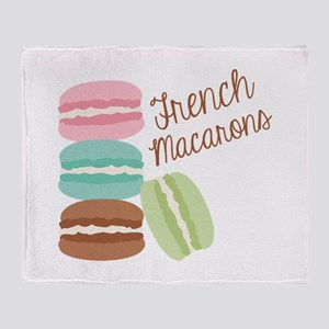 French Macaroons Throw Blanket