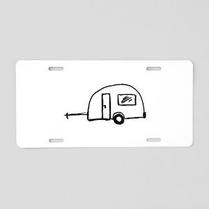 Wohnwagen Aluminum License Plate