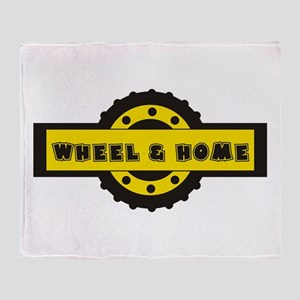 Wheel and home Throw Blanket