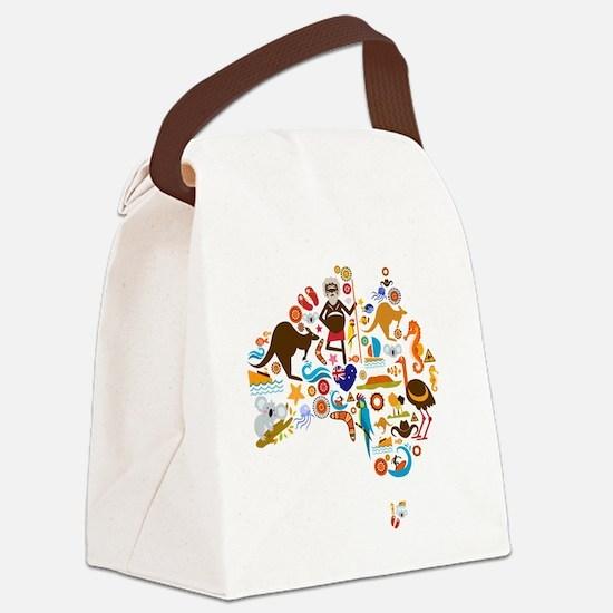 Unique Australia Canvas Lunch Bag