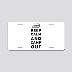 Keep calm camping Aluminum License Plate