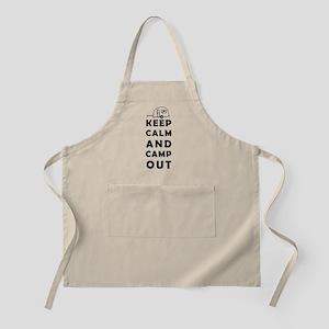 Keep calm camping Apron