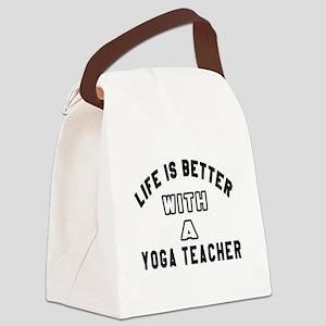 Yoga Designs Canvas Lunch Bag