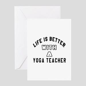 Yoga Designs Greeting Card